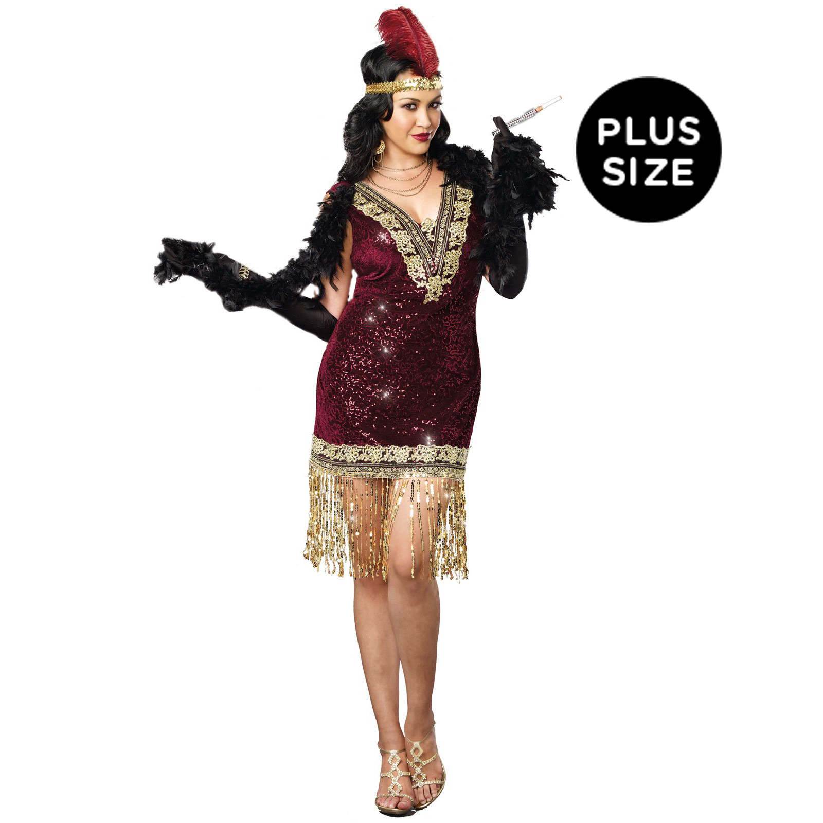 Plus Size Sophisticated Lady Flapper Costume For Women ...