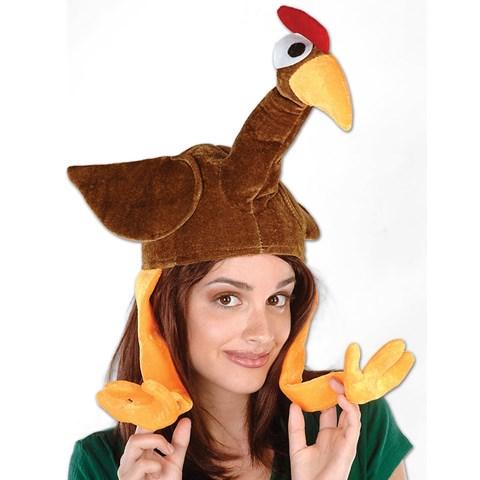 Plush Gobbler Hat Adult