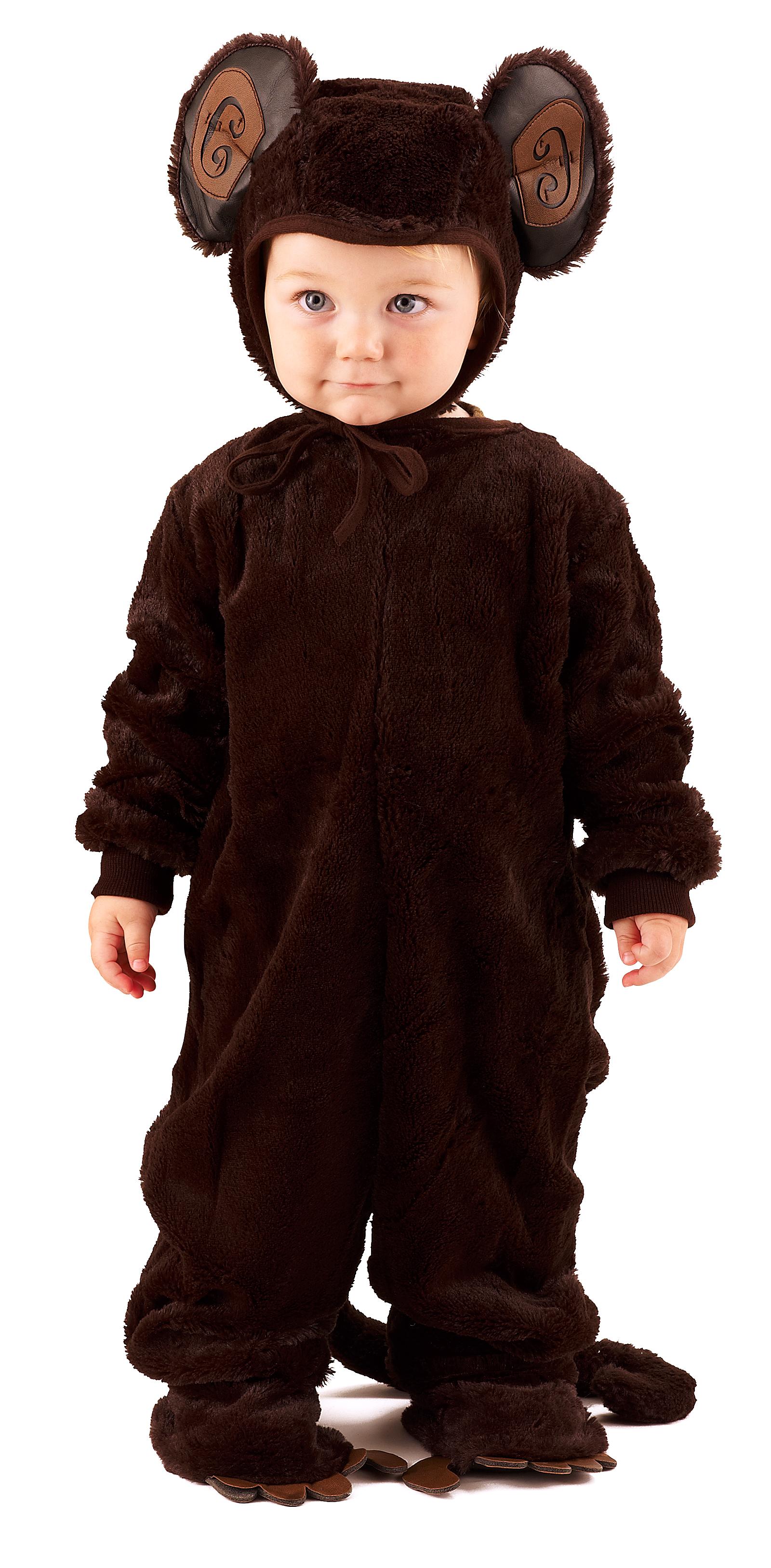 plush monkey newborn infant costume buycostumescom - Halloween Monkey Costumes
