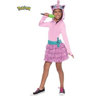 Pokemon Girls Jiggly Puff Hooded Costume