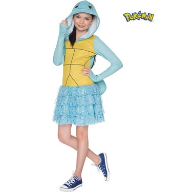 Pokemon Girls Squirtle Hooded Costume