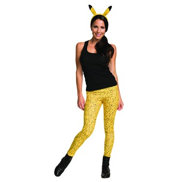 Pokemon Pikachu Leggings and Headband Adult Costume Kit