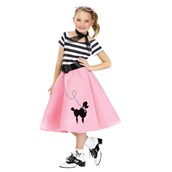 Poodle Child Dress With Scarf And Belt