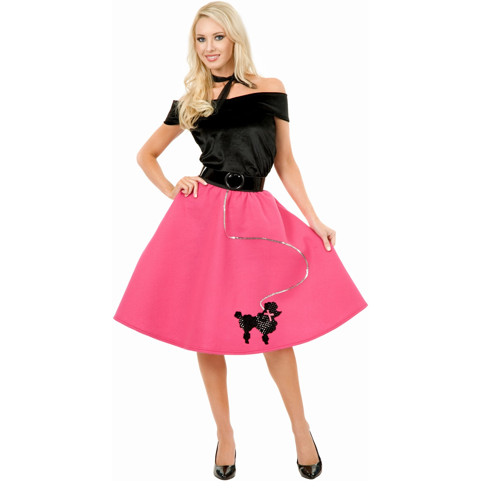 Poodle Skirt Top Scarf Adult Costume