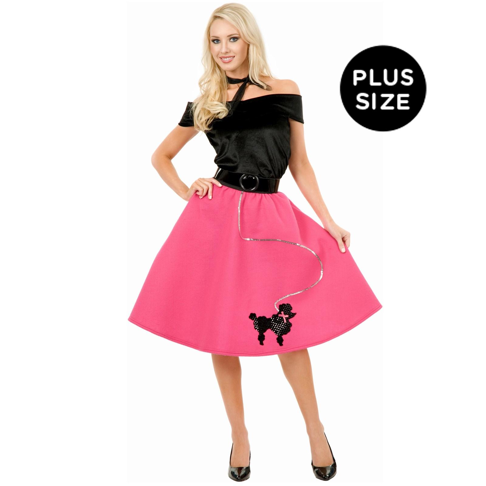 Poodle Skirt Top Scarf Adult Plus Costume