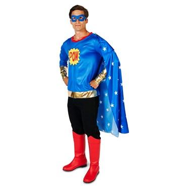 Pop Art Comic Super Hero Man Adult Costume