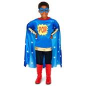 Pop Art Comic Super Hero POW Boy Child Costume