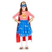 Pop Art Comic Superhero Girl Child Costume
