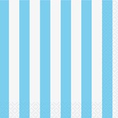 Powder Blue Stripe Beverage Napkins