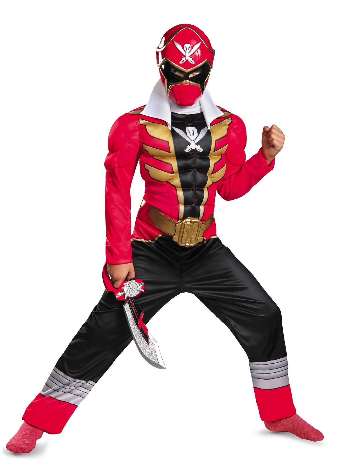 Power Ranger Super Megaforce Red Ranger Muscle Kids Costume ...