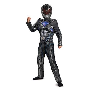 Power Rangers:  Black Ranger Classic Muscle Child Costume