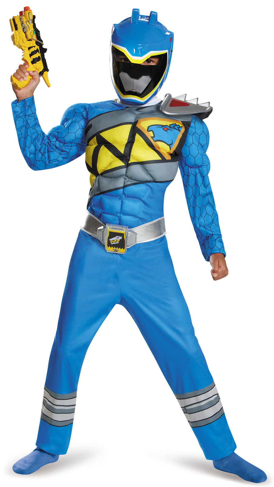 Power Rangers Dino Charge: Boys Blue Ranger Muscle Costume ...