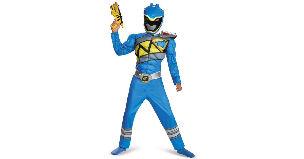 power rangers dino charge boys blue ranger muscle costume. Black Bedroom Furniture Sets. Home Design Ideas