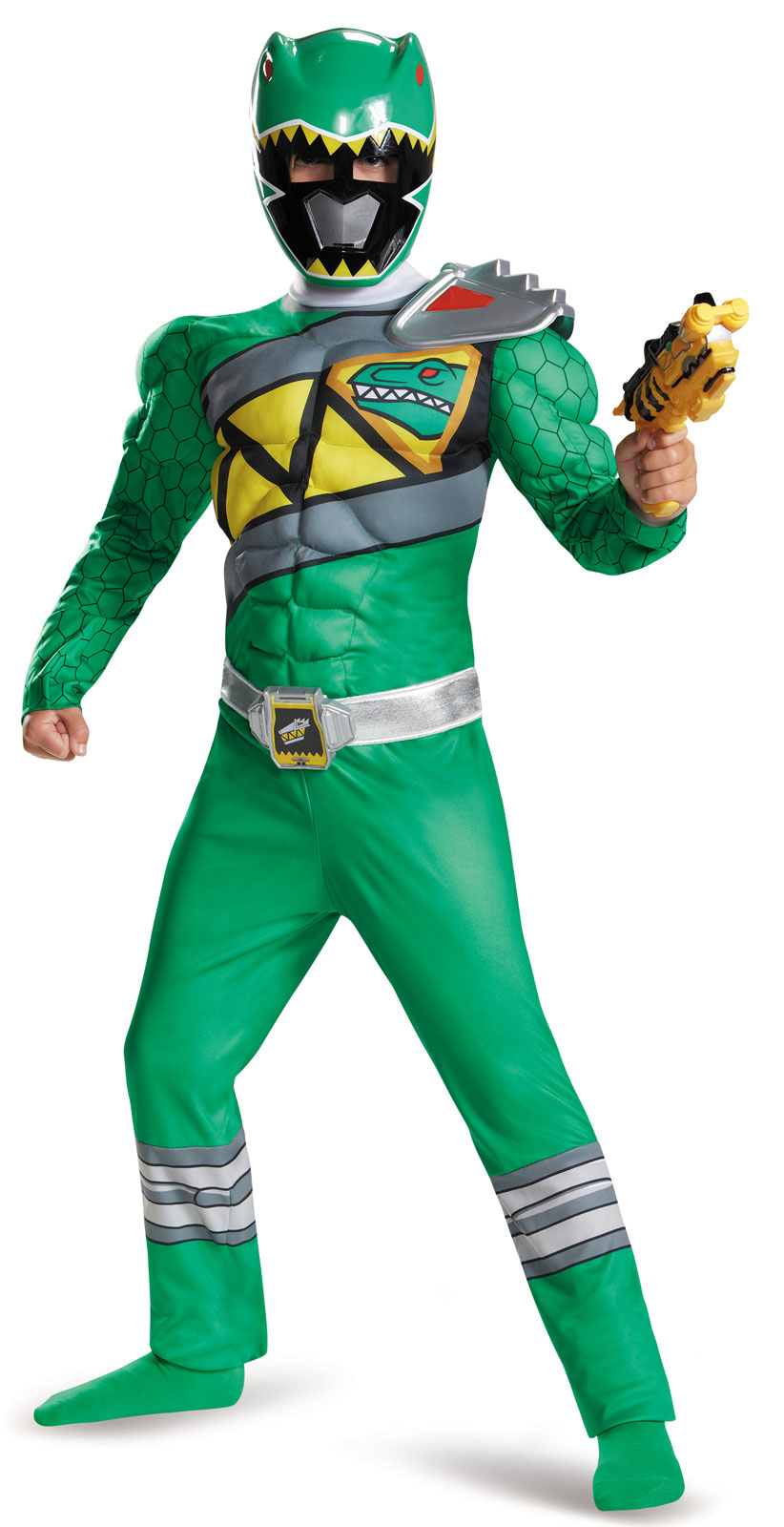 power rangers dino charge boys green ranger muscle costume ebay. Black Bedroom Furniture Sets. Home Design Ideas