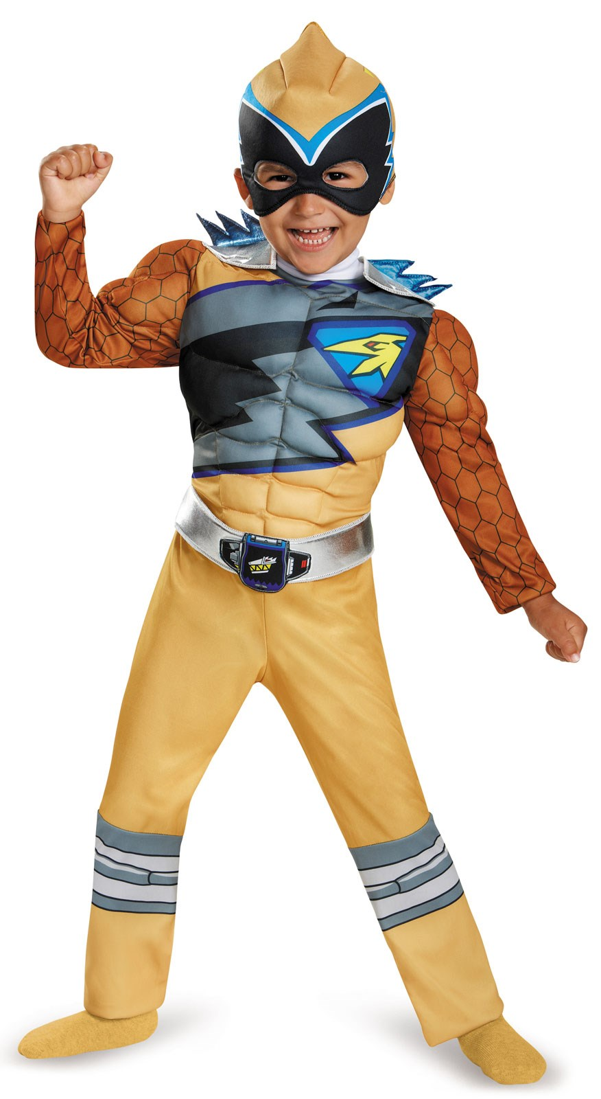 Power Rangers Dino Charge: Gold Ranger Muscle Costume For Kids