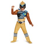 Power Rangers Dino Charge: Gold Ranger Muscle Costume For Toddlers