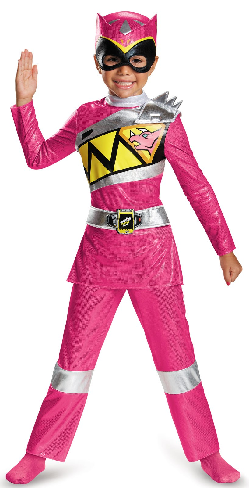 power rangers dino charge kids deluxe pink ranger costume. Black Bedroom Furniture Sets. Home Design Ideas