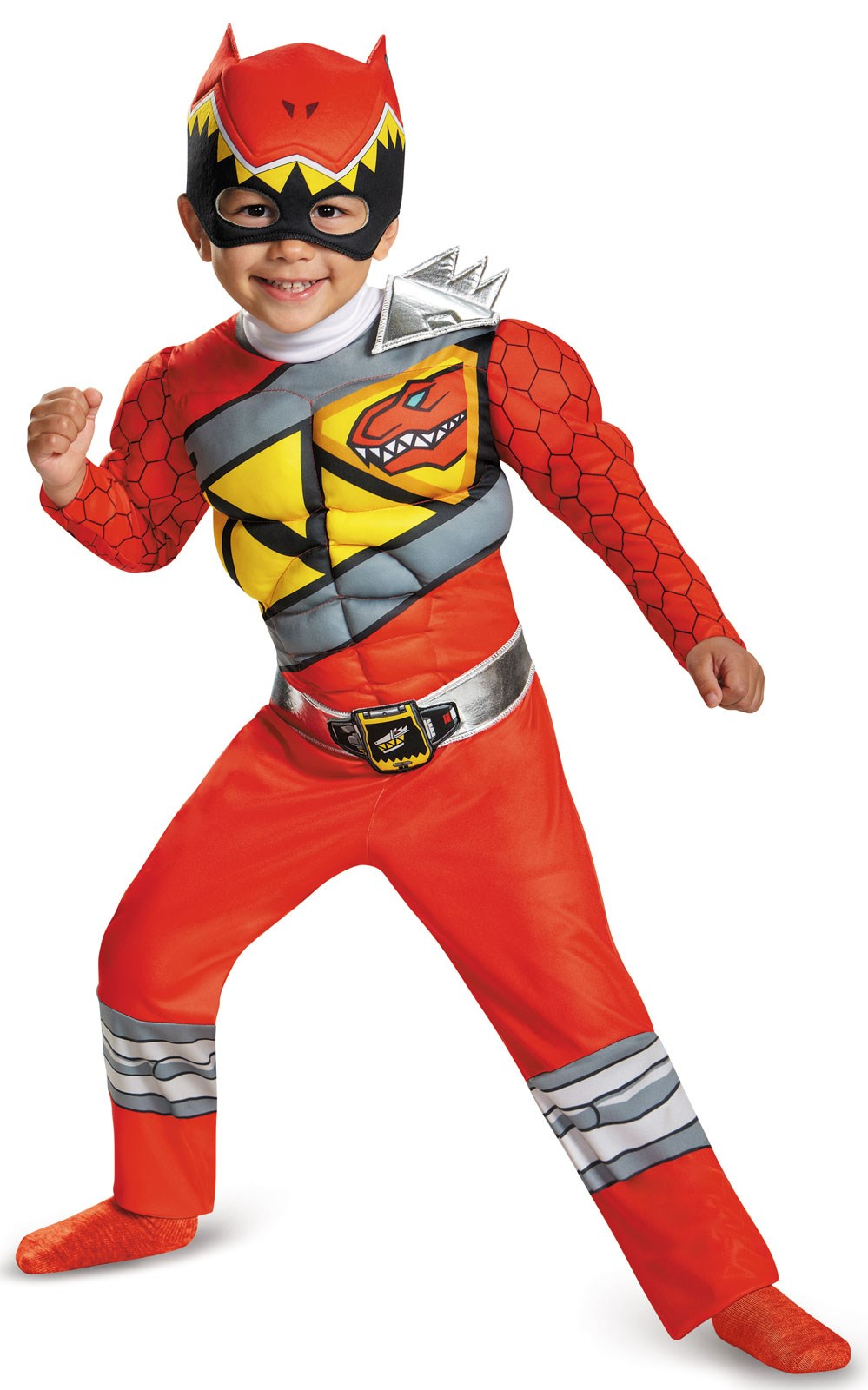 Power Rangers Dino Charge: Kids Red Ranger Muscle Costume