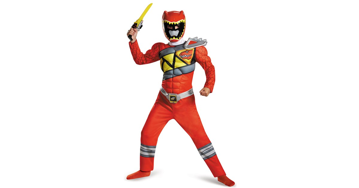 Power Rangers Dino Charge: Red Ranger Muscle Costume For ...