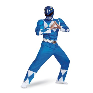 Power Rangers - Mighty Morphin  Blue Ranger Classic Muscle Adult Costume