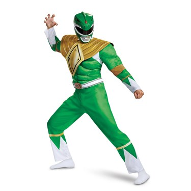 Power Rangers - Mighty Morphin  Green Ranger Classic Muscle Adult Costume