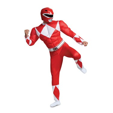 Power Rangers - Mighty Morphin  Red Ranger Classic Muscle Adult Costume