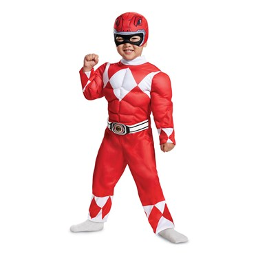 Power Rangers - Mighty Morphin  Red Ranger Toddler Muscle Costume