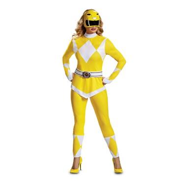 Power Rangers - Mighty Morphin  Yellow Ranger Adult Costume
