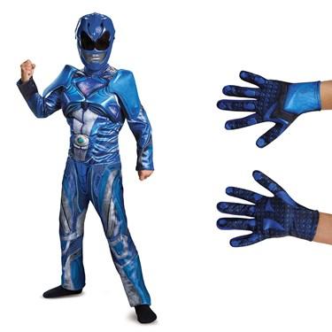 Power Rangers Movie Blue Ranger Children's Classic Muscle Costume Kit