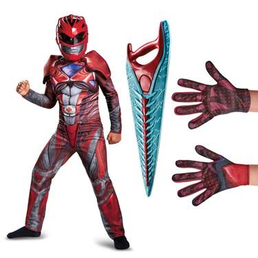 Power Rangers Movie Red Ranger Children's Classic Muscle Costume Kit