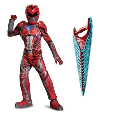 Power Rangers Movie Red Ranger Children's Prestige Costume Kit