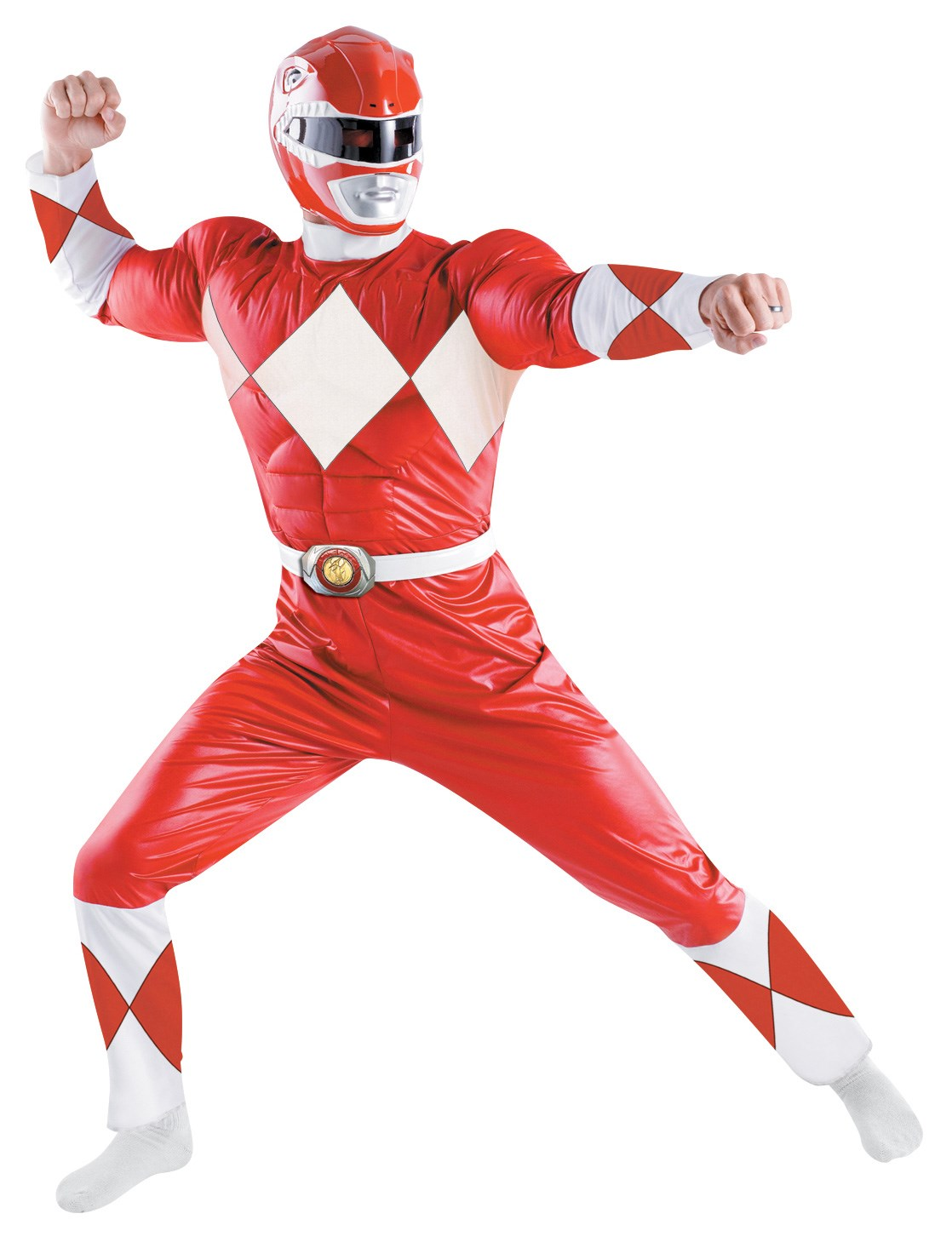 power rangers red ranger classic adult costume. Black Bedroom Furniture Sets. Home Design Ideas