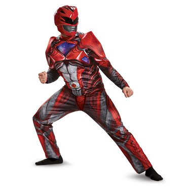 Power Rangers:  Red Ranger Muscle Adult Costume