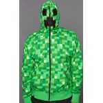 Premium Adult Minecraft Creeper Zip-Up Hoodie