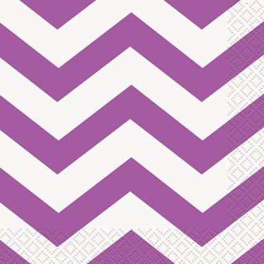 Pretty Purple Chevron Lunch Napkins (16)