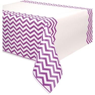 Pretty Purple Chevron Plastic Tablecover