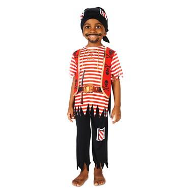 Printed Pirate Matey Child Costume