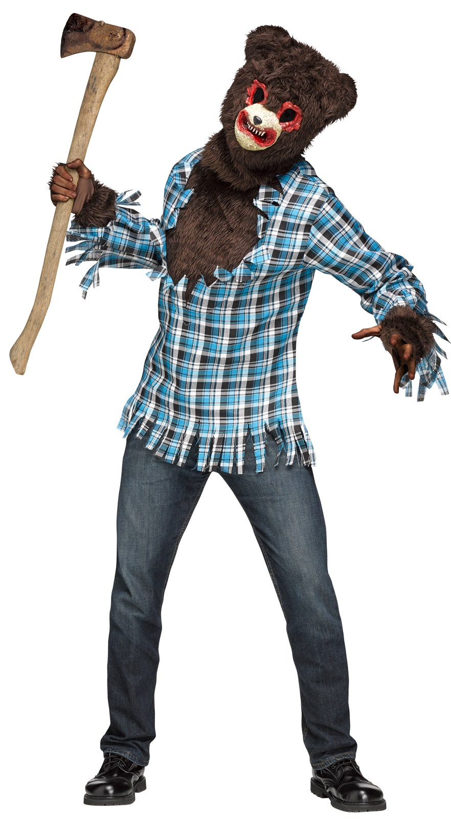 Psycho Teddy Bear Costume For Adults
