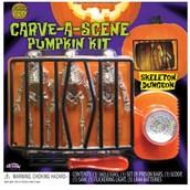 Pumpkin Carving Kit - Scream Scene Skeleton Breakout