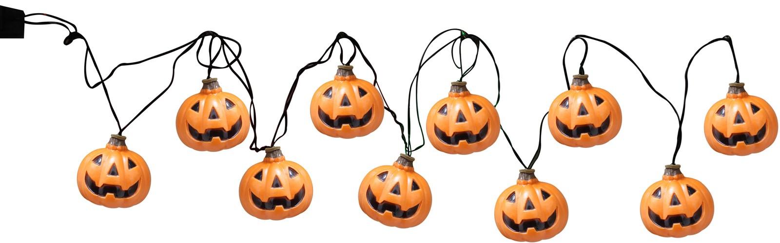 Pumpkin String Lights For Halloween