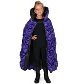 Purple & Black Reversible Child Cape