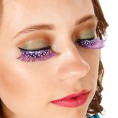 Purple and Silver Eyelashes