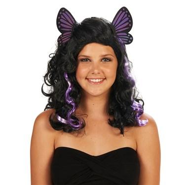 Purple Butterfly Adult Wig