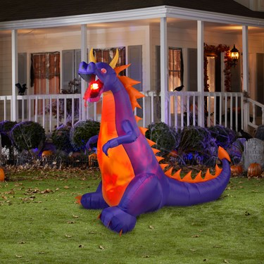 Purple Dragon Airblown with Lights