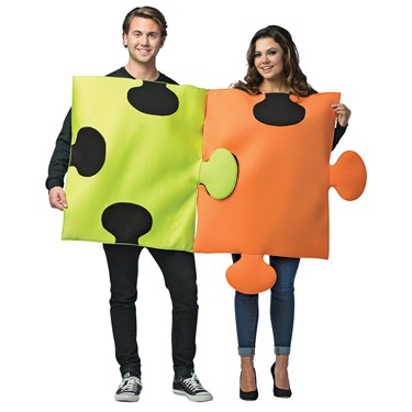 Puzzle Pieces Adult Couples Costume