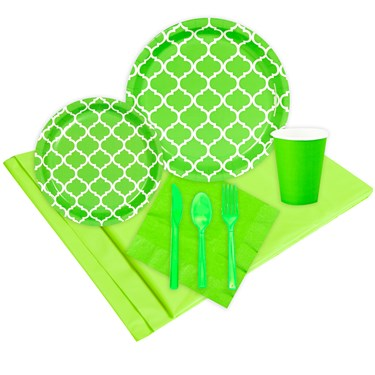 Quatrefoil Fresh Lime Event Pack