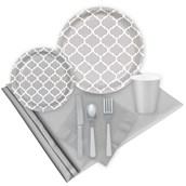 Quatrefoil Medium Gray Event Pack