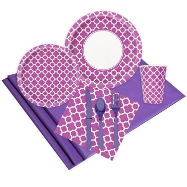 Quatrefoil Pretty Purple Event Pack