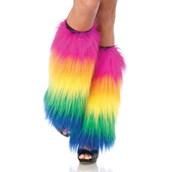 Rainbow Adult Leg Warmers