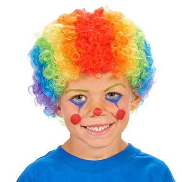 Rainbow Clown Child Wig